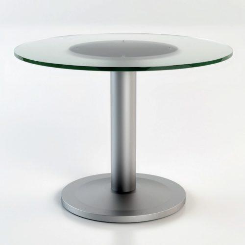 Tavolo riunioni circolare piano in vetro Serie Retta (RXR110)