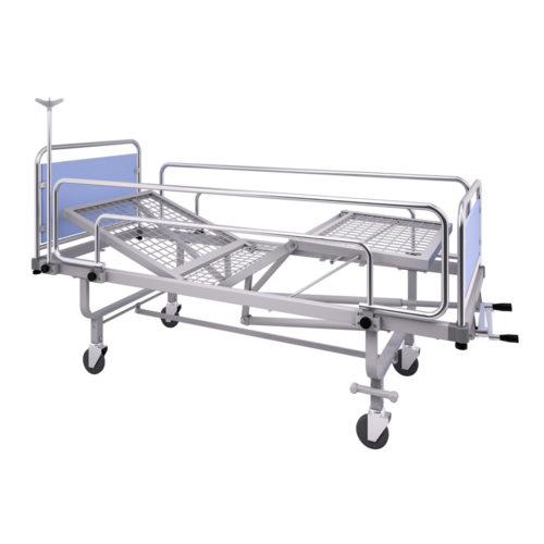 Rete ospedaliera su ruote con testiera e pediera regolabile