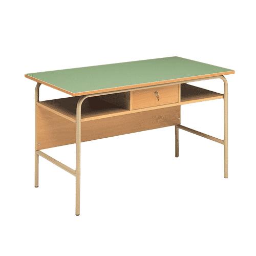 Cattedra insegnante ad un cassetto centrale con sottopiano