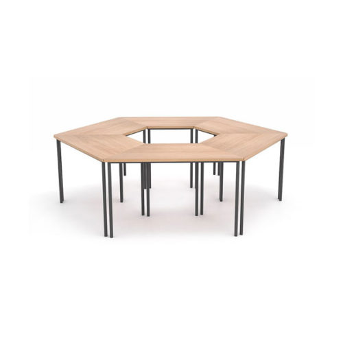 Tavolo scolastico trapezoidale