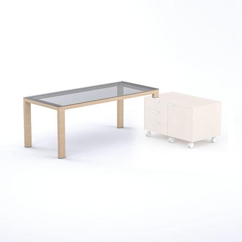 Tavolo scrivania in vetro collegabile Elisia