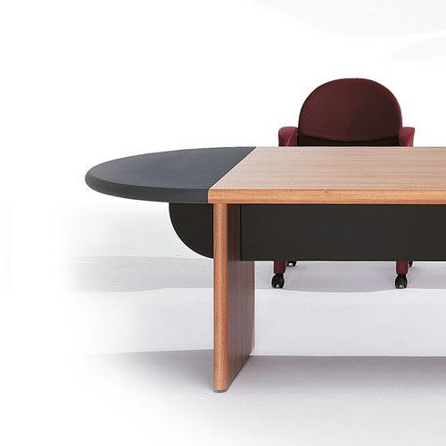 Tavolo riunione con terminali semicircolari Serie Mytho