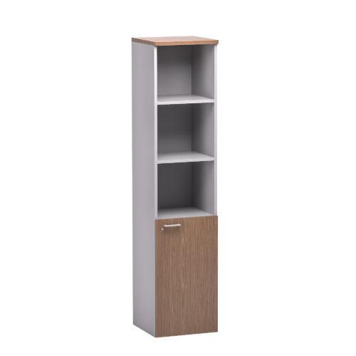 Libreria alta a giorno con anta inferiore Serie Retta (Cod. RL301)