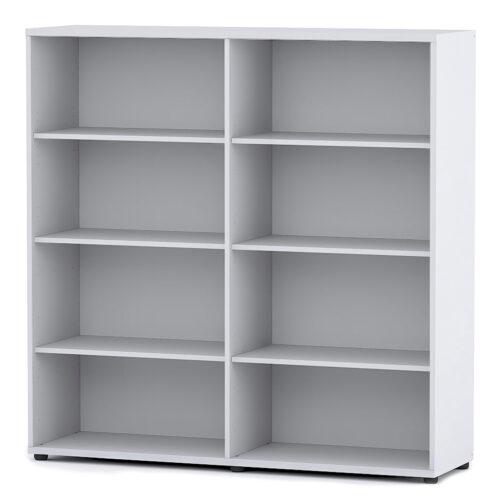 Libreria media a due elementi e quattro ante piene Digit